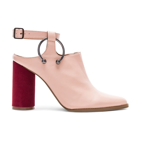 "JAGGAR Diverge Block Bootie in blush - ""Leather upper with man made sole. Ankle strap with..."
