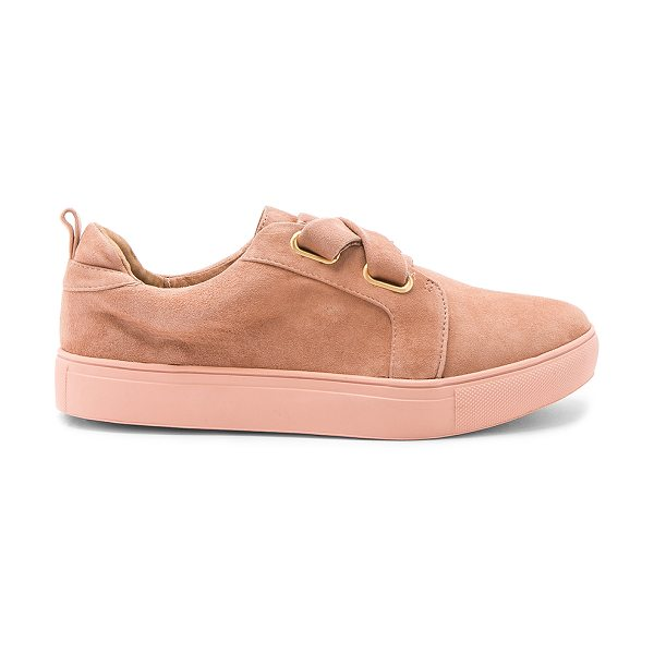 JAGGAR Fractured Sneaker in nude - Suede upper with rubber sole. Laced front. Pull on...