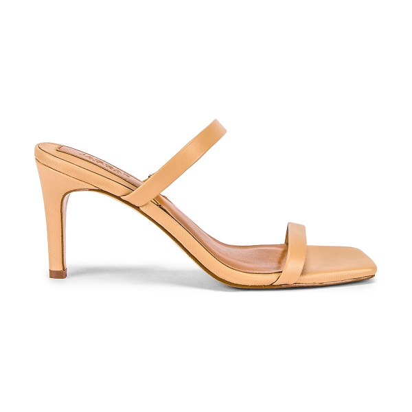 JAGGAR two strap leather sandal in amberlight