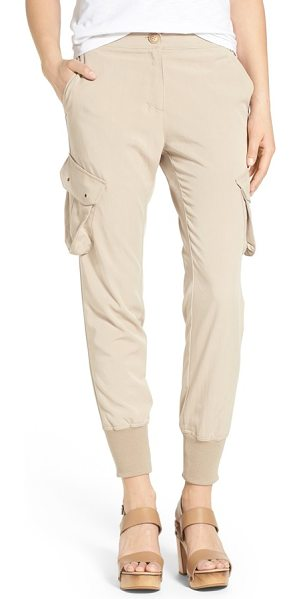 James Jeans slouchy utility cargo pants in sand chino