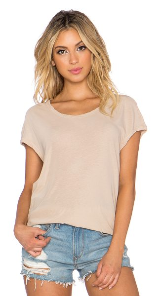James Perse Circular shell top in tan - 100% cotton. JAME-WS2306. WEK3356. James Perse started...