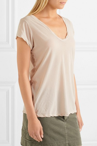 James Perse cotton-jersey t-shirt in beige - You can never go wrong with a James Perse T-shirt -...