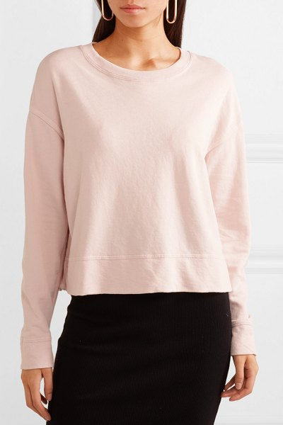 James Perse french cotton-terry sweatshirt in pastel pink