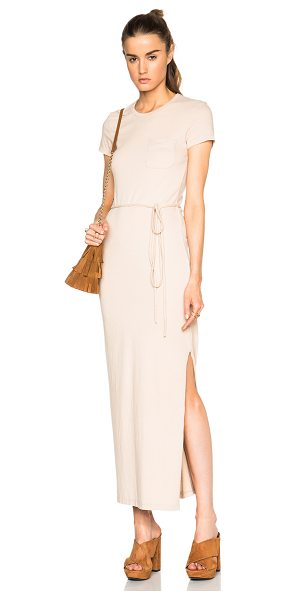 James Perse Long pocket tee dress in neutrals - 74% cotton 20% poly 6%  polyurethane.  Made in USA. ...