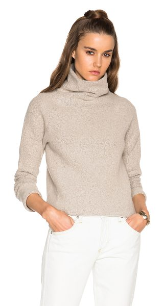 JAMES PERSE Raglan funnel neck sweater - Self: 72% virgin wool 28% nylon - Contrast Fabric:100%...