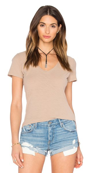 James Perse Reverse binding casual tee in tan - 100% cotton. JAME-WS2428. WUA3695. James Perse started...