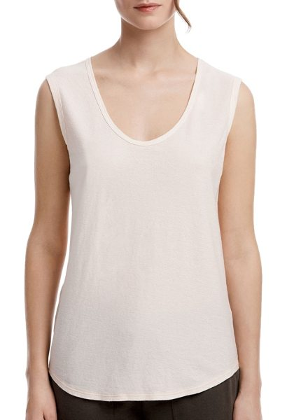 James Perse scoop neck tank in petal - Garment washed for a supersoft, lived-in feel, this...