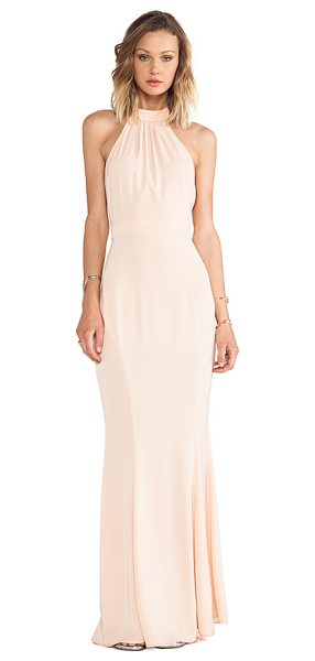 Jarlo Caden dress in peach - Self: 97% poly 3% spandexLining: 100% poly. Hand wash...