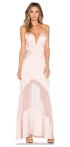 JARLO Elizabeth maxi dress - 100% poly. Dry clean only. Bustline to hem measures...