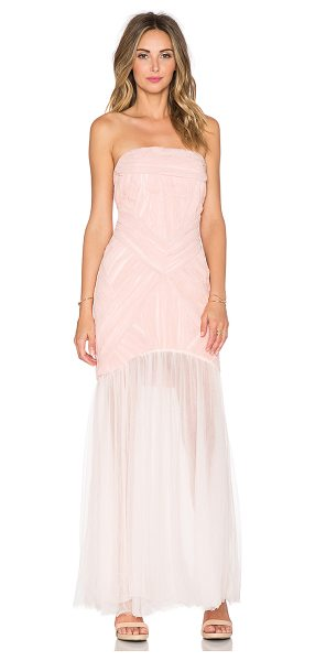 """Jarlo Felicity Maxi Dress in blush - """"100% poly. Dry clean only. Bustline to hem measures..."""
