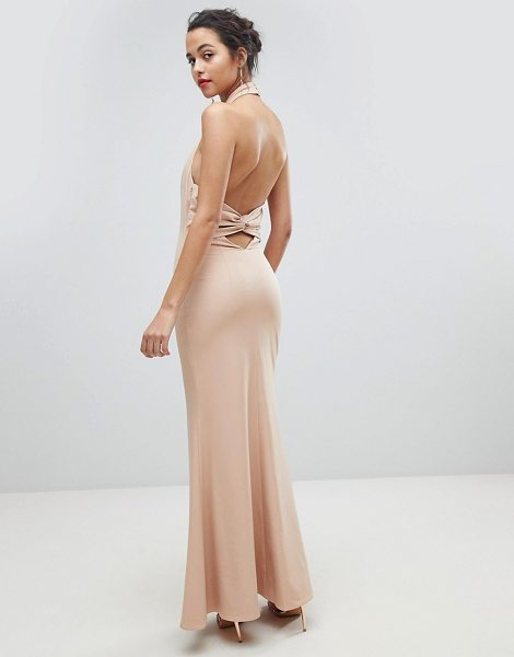 JARLO High Neck Ruched Open Back Maxi Dress - Maxi dress by Jarlo, For that thing you RSVPd to, Halter...