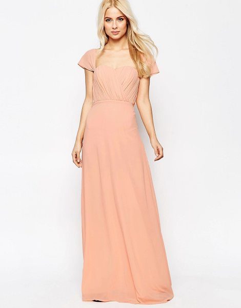 Jarlo Off The Shoulder Chiffon Maxi Dress in pink - Maxi dress by Jarlo, Lined chiffon, Sweetheart neckline,...