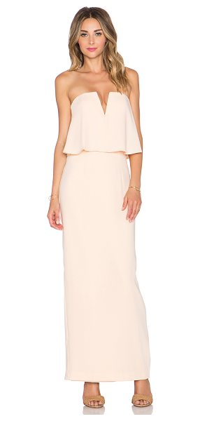 Jarlo Poppy maxi dress in peach