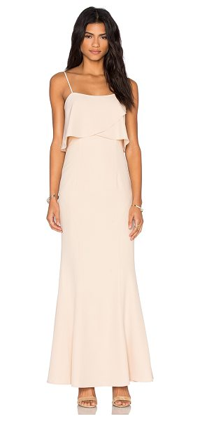 Jarlo Rumer Dress in nude - 95% poly 5% spandex. Dry clean only. Fully lined....
