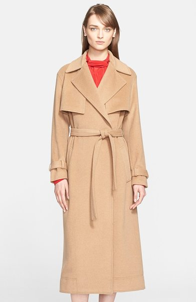 Jason Wu camel hair trench coat in camel - The quintessential trench gets an indulgent upgrade in...