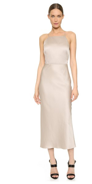 JASON WU Cocktail halter dress in taupe - An elegant Jason Wu cocktail dress in fluid sateen....