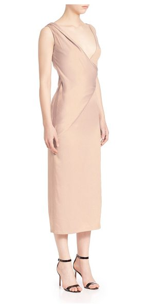 JASON WU crepe-backed charmeuse cocktail dress - Silky charmeuse elevates sleeveless midi silhouette....