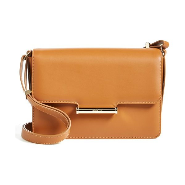 Jason Wu Diane calfskin leather crossbody bag in luggage - Campus-inspired minimalism plays up the modern...