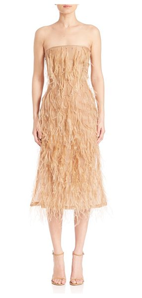 Jason Wu fringed silk dress in camel - Beautiful dress with allover fringed detailing. Straight...