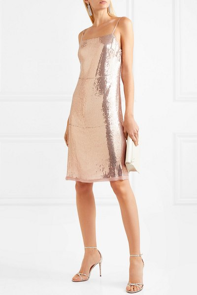 Jason Wu Grey sequined stretch-jersey dress in pink - Jason Wu GREY's Resort '19 designs are filtered through...