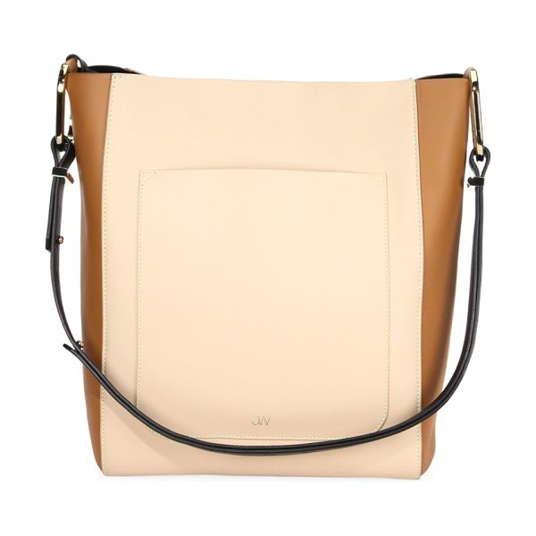 JASON WU julia leather tote - Topstitched leather tote with contrast blocked sides....