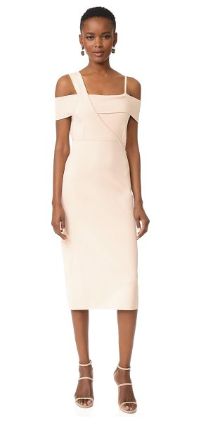 Jason Wu off shoulder dress in pink champagne - A curve-conforming Jason Wu dress with asymmetrical,...