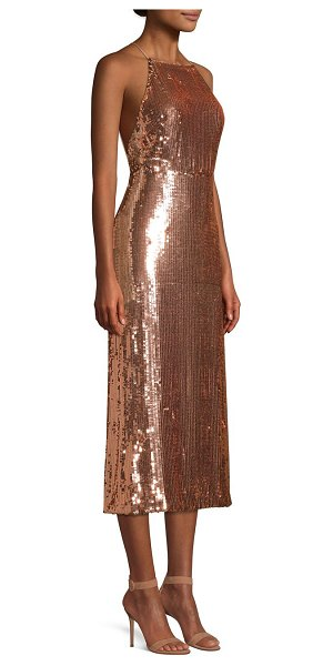 Jason Wu sequined crisscross strap dress in balletpink - From the Saks It List: Pastels. Streamlined and...