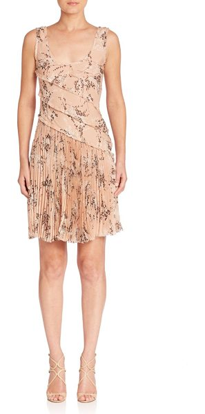 JASON WU silk floral dress - Draped fabric and soft pleats accent this floral printed...