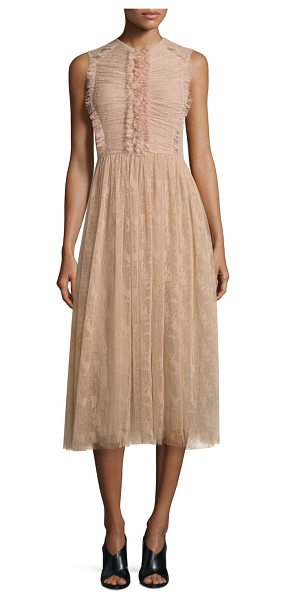 JASON WU Sleeveless Abstract Lace Dress - Jason Wu abstract lace dress with eyelash fringe trim....