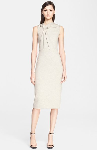JASON WU sleeveless twist front melange knit dress - An elegant twist at the angled neckline gathers the...