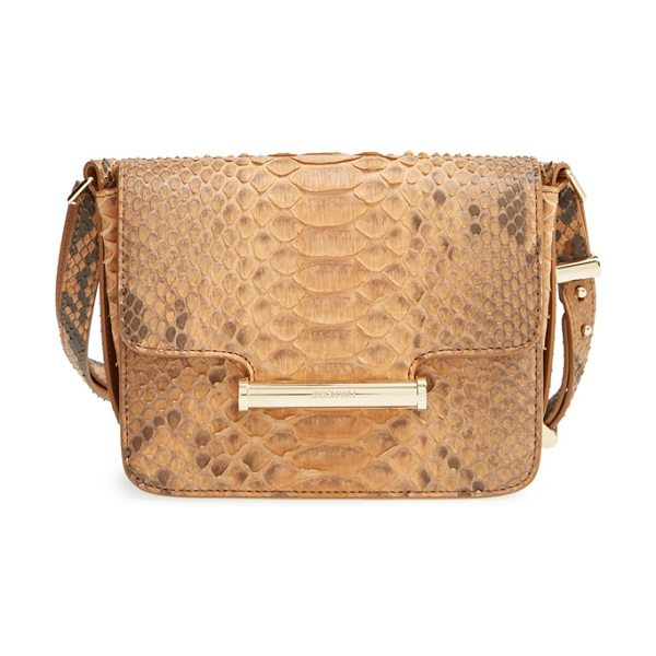 Jason Wu Small diane genuine python crossbody bag in luggage - Lavish snakeskin composition intensifies the exotic...