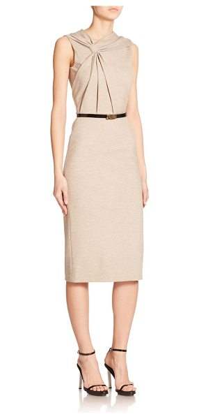 Jason Wu Twisted jersey dress in taupe - An artful twist panel elevates this form-flattering...