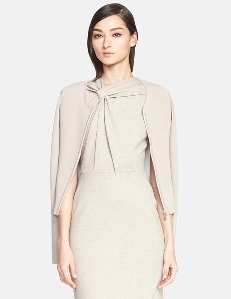 Jason Wu zip front cardigan in taupe/ chalk - This fine-gauge knit cardigan is modern and streamlined...