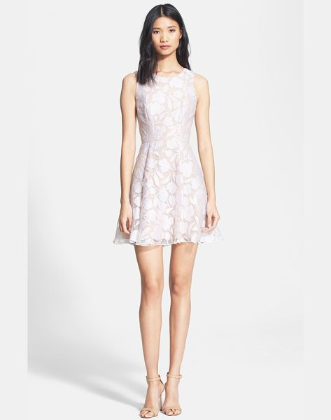 Jay Godfrey bautista floral burnout fit & flare dress in white/ nude - A fresh, full-skirted frock overlaid in gossamer...