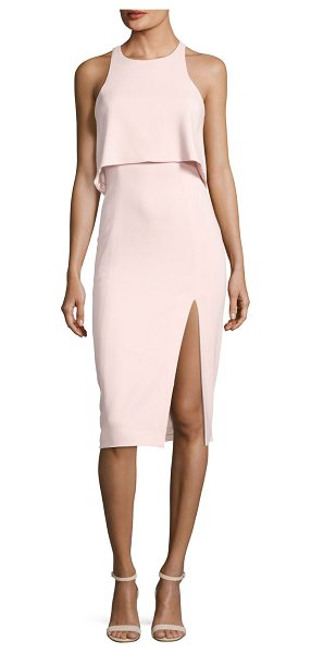 "Jay Godfrey Charles Sleeveless Popover Cocktail Sheath Dress w/ Slit in rosette - Jay Godfrey ""Charles"" dress with cutaway popover bodice..."