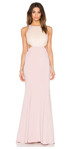 Jay Godfrey Hearst Dress in blush - 98% poly 2% spandex. Dry clean only. Fully lined....
