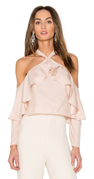 Jay Godfrey Kingston Top in blush - 100% silk. Dry clean only. Halter neck with hook and eye...