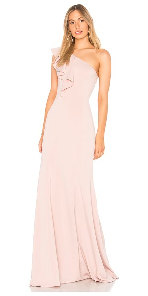 Jay Godfrey Osgood Gown in blush - 95% poly 5% spandex. Dry clean only. Fully lined. One...