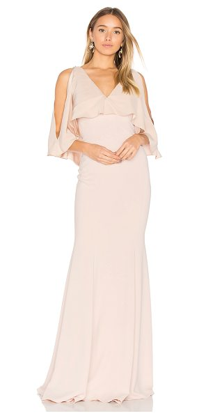 Jay Godfrey Page Gown in blush - 98% poly 2% spandex. Dry clean only. Fully lined....