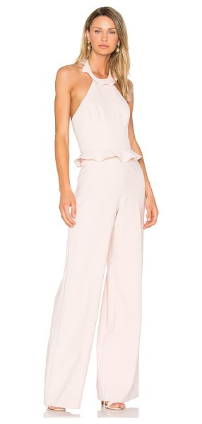 "Jay Godfrey Rainey Jumpsuit in blush - ""Poly blend. Dry clean only. Ruffle trim. Hidden back..."