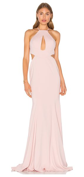 Jay Godfrey Sao Paulo Gown in blush - 98% poly 2% spandex. Dry clean only. Fully lined. Front...