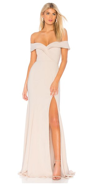 """Jay Godfrey Talia Gown in pink - """"Poly blend. Dry clean only. Fully lined. Front slit...."""