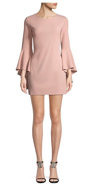 "JAY X JAYGODFREY Bell-Sleeve Sheath Mini Cocktail Dress in blush - Jay X Jay Godfrey cocktail dress. Approx. 30""L down..."