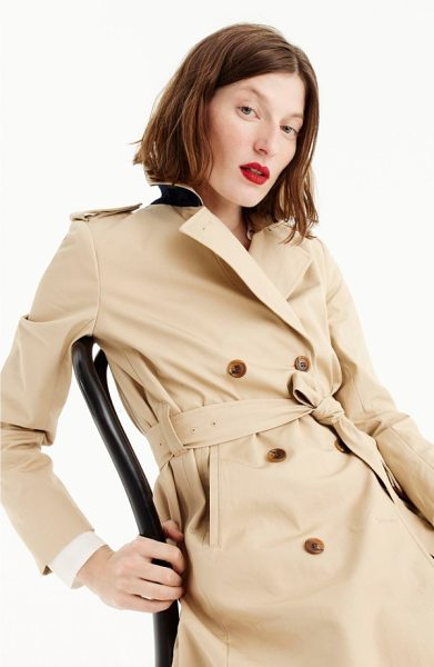 J.Crew dion trench coat in beige - J.Crew's signature trench is made with a few tweaks-a...