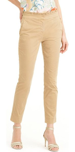 J.CREW ruffle crop chino pants - For a classic with a twist, J.Crew updates these...