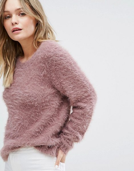 "JDY Fluffy Knitted Sweater in pink - """"Sweater by JDY, Soft-touch knit, Fluffy finish, Round..."