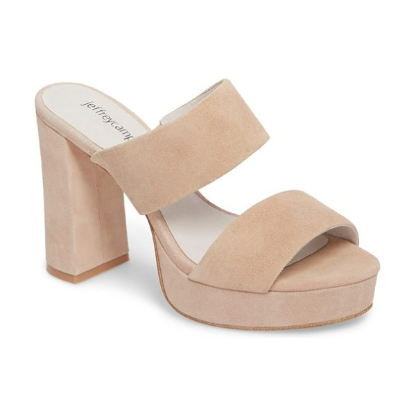 Jeffrey Campbell adriana double band platform sandal in pink