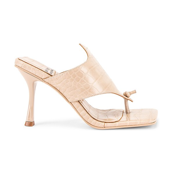 Jeffrey Campbell amores sandal in nude croco