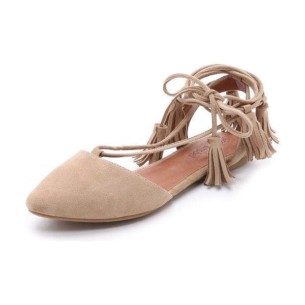 Jeffrey Campbell Amour suede flats in nude - Suede Jeffrey Campbell flats in a ladylike d'orsay...