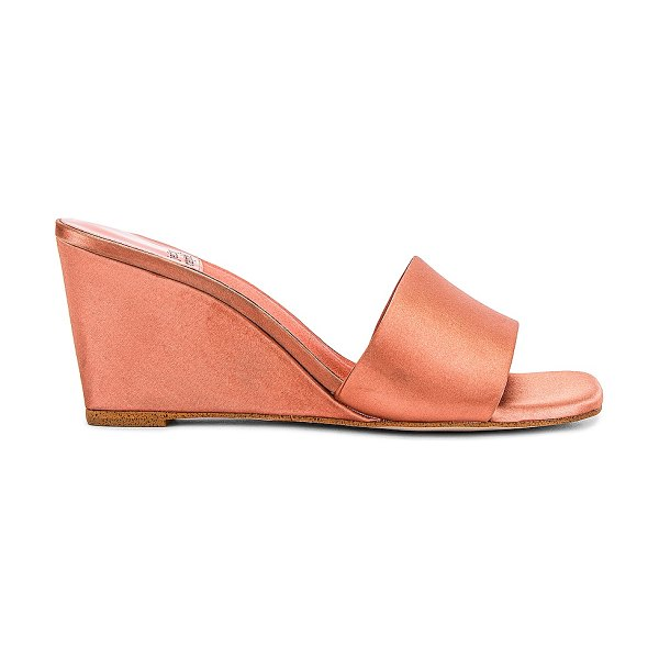 Jeffrey Campbell appetit wedge in peach satin
